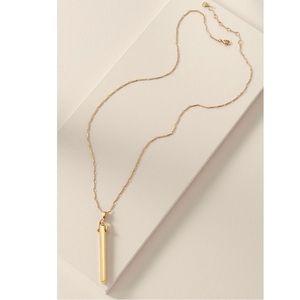 "Stella & Dot Rebel gold necklace. Like NEW 28"" +2"""